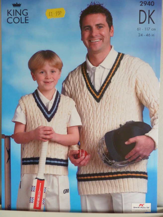 Cricket Jumper pattern 2940