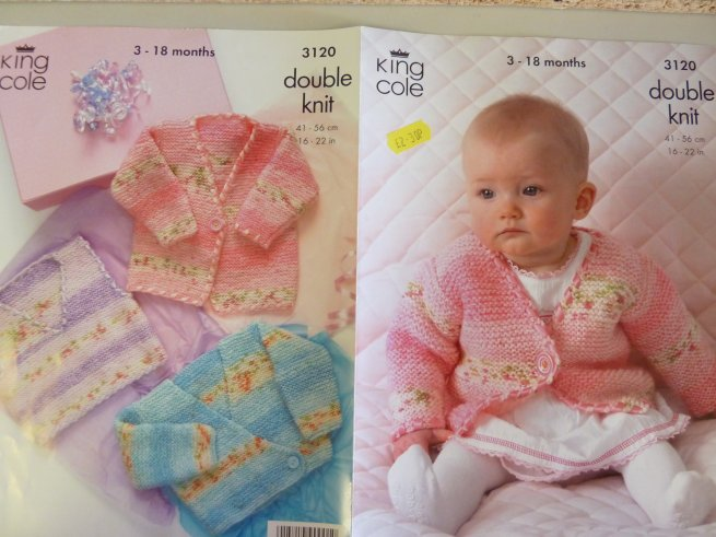 King Cole childrens double  Knitting Pattern 3120