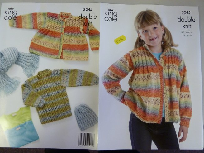 Knitting Pattern King Cole : Cardigan ,sweater,jumper ,hat , scarf, double knitting ...