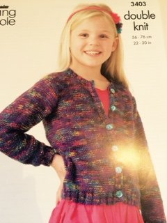 Girls double knit pattern 3403