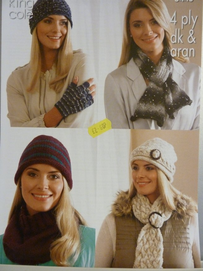 Ladies Multi Hat pattern 3443