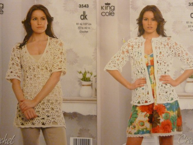 King Cole Crochet adult pattern 3543