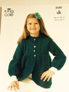 Girls Cardigan pattern 3550