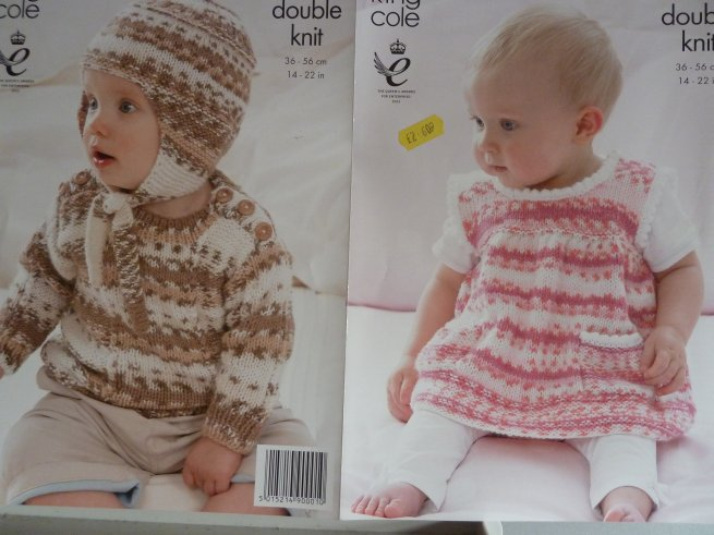 King Cole Babies double Knitting Pattern 3559