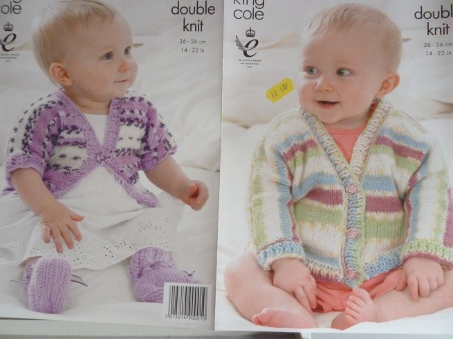 King Cole Babies double Knitting Pattern 3560
