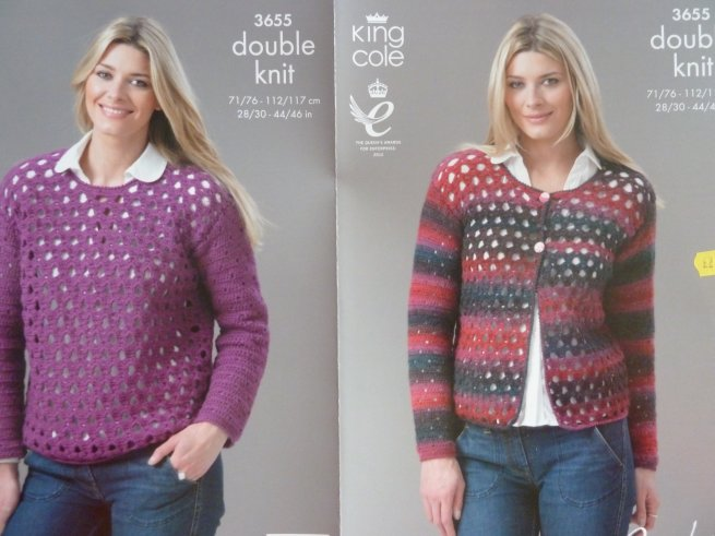King Cole Crochet adult pattern 3655