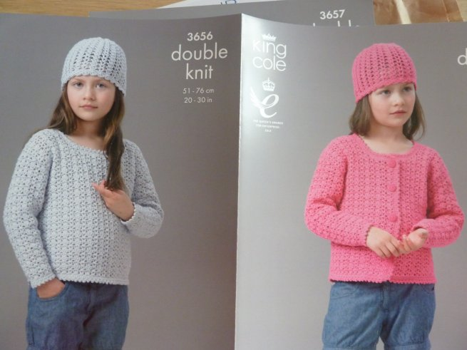 King Cole Crochet girls pattern 36596