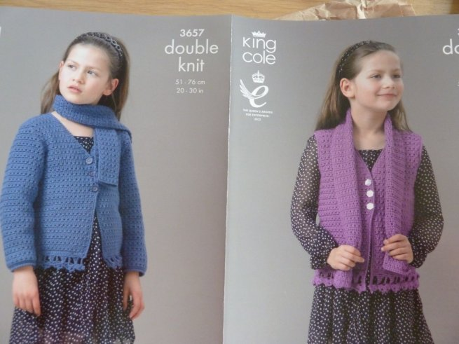 King Cole Crochet girls pattern 3657