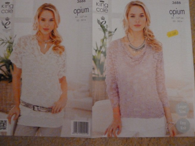 King Cole opium knitting pattern 3686
