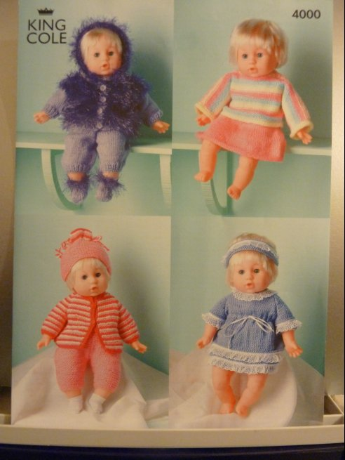 King Cole dolls/prem baby knitting pattern 4000