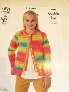 Frilly hem cardigan and jumper 4095
