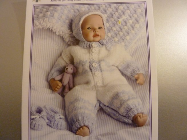 Jacquay Yaxleys knitting pattern / Baby Blue