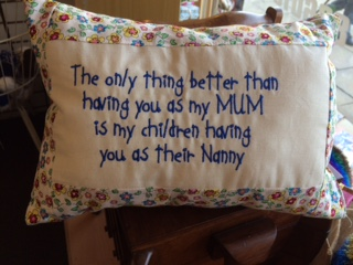 handmade nanny cushion