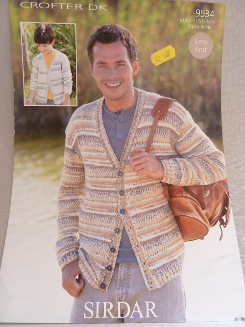 male pattern 9534 double knitting